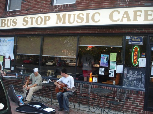 The front of the Bus Stop Music Cafe in Pitman, NJ