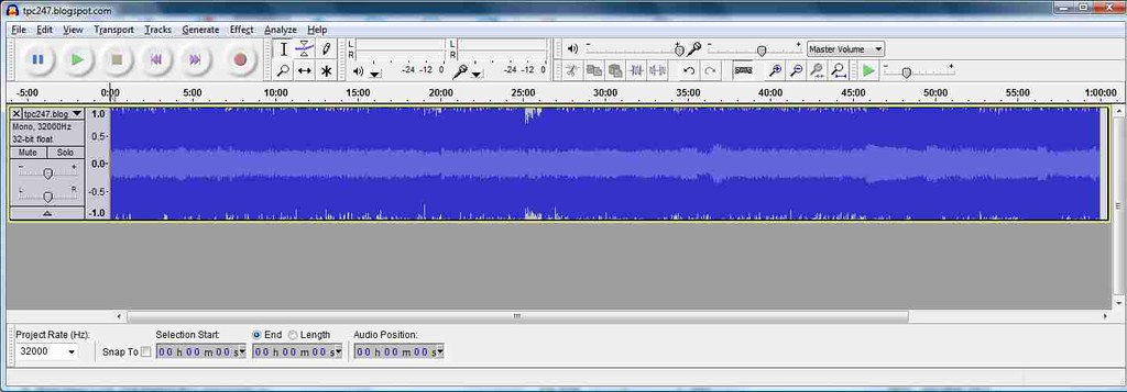 Audacity_recently imported audio file