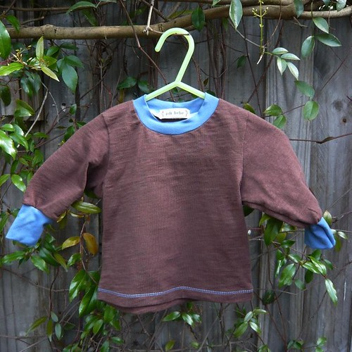 Chocolate Brown Recycled Baby Top