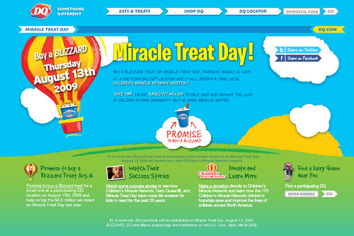 Miracle Treat Day from Dairy Queen to benefit Children's Miracle Network