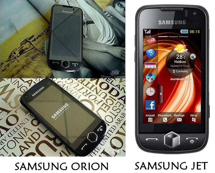Samsung Orion and Samsung Jet