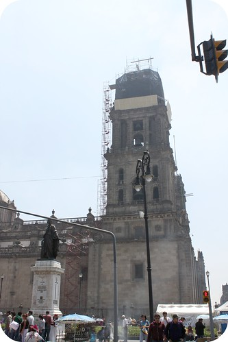 zocolo -Cathedral tower-mexico city by you.