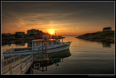 Peggy's Cove Boat Tours (Dave the Haligonian) Tags: ocean sunset sea sky fish canada clouds coast boat fishing raw tour novascotia village