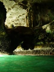 Limestone cave interior