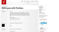 IKEA goes with Verdana | Typophile_1251421779572