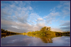 Colors of the Biesbosch (hvhe1) Tags: light sunset lake nature water clouds creek river nationalpark bravo reserve explore swamp frontpage wetland hvhe1 hennievanheerden
