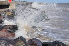 A Wave Against The Rocks II (EJ Images) Tags: uk england slr water suffolk nikon waves breakingwave lowestoft nikonslr d90 northparade nikond90 englandsmosteasterlypoint ejimages