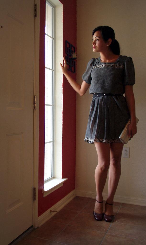 Revamped 80's secretary dress