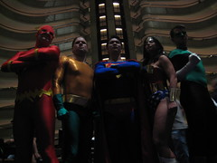 Justice League (Bryanakin) Tags: costumes woman green wonder justice dc cosplay flash superman lantern 2009 league dragoncon aquaman