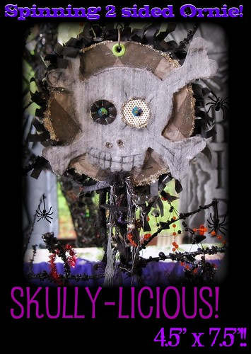 Skull-Licious Mixed Media Ornie side one