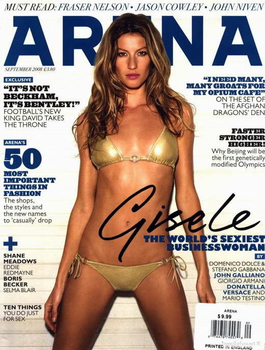 Brazilian Model Gisele Bundchen' Arena Magazine September 2008 Photos - beautiful girls