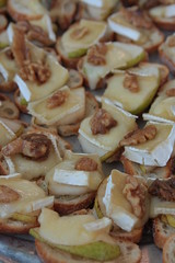 Ealings Park - apple, walnut and brie crostini