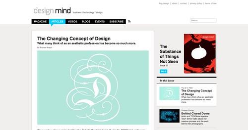 The Changing Concept of Design | design mind_1253991201650