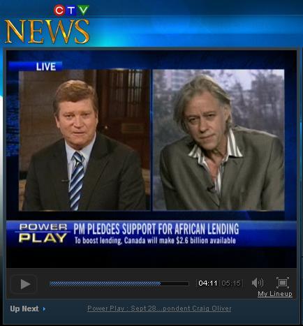 Bob Geldof on CTV