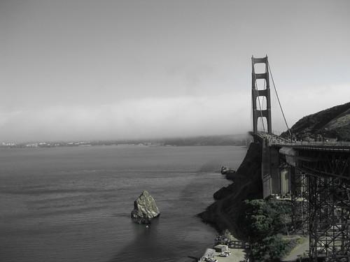 golden gate bridge black and white. Golden Gate Bridge San Francisco Black and White
