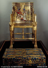 The Golden Throne of King Tutankhamun - Throne and Footstool (Sandro Vannini) Tags: art photography kingtut cobra tomb egypt ankh tutankhamun aren beliefs egyptians egyptianmuseum cairomuseum goldenthrone kv62 sundisk goldenchair ankhsenamun tutankhaten heritagekey kingtutvirtual sandrovannini ankhsenpaaten keyobject1919