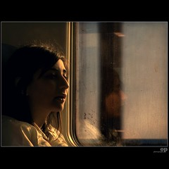Train Window Self (Osvaldo_Zoom) Tags: railroad light portrait italy reflection window glass girl rain train canon project student bravo double commuter treno calabria riflesso trenitalia g7 pendolare artlibre