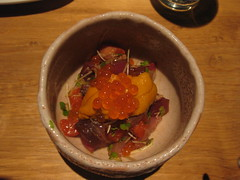 Raku - Seafood with Bonito Guts in pickled salt