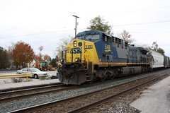 CSX CW44AH 548 (capsfan1222) Tags: railroad train canon diesel locomotive ge generalelectric csx canonefs1855 fostoriaohio cw44ah canoneosrebelxsi