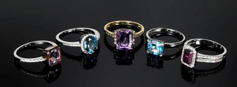 Ernest Jones semi-precious rings