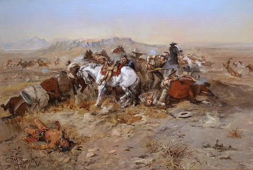 Charles M. Russell (1864–1926), A Desperate Stand, 1898