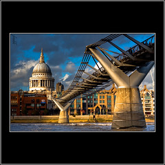 Millenium bridge of London (Explored) (Explore EOS 50D content) (Mr.GG) Tags: bridge london river cathedral stpaulscathedral millemiumbridge mrgg canon50d colorphotoaward ggmgl ganulzii