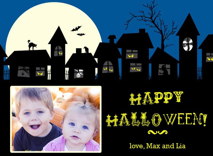 max and lia halloween card
