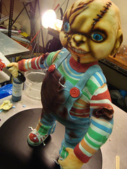 chucky  cake progress shot by debbiedoescakes