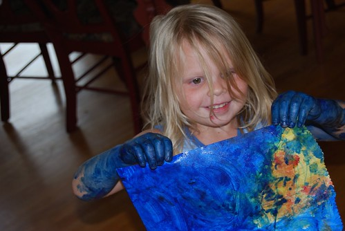 Blue Paint Girl 1