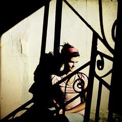 Vivien X [deep 6th district] (PhatCamper) Tags: portrait girl monochrome vintage budapest naturallight textures teenager cousin ungarn vivien textured magyarorszg ghettofab portr vintagefeel arckp textra texturesquared