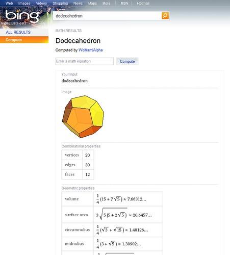 Bing WolframAlpha