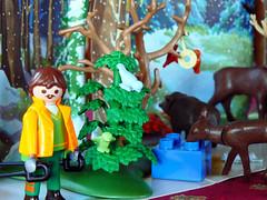 Playmobil - Wildftterung im Winterwald (dierk schaefer) Tags: winter germany deutschland wald allemagne reh playmobil wildftterung meisenring waldarbeiter dierkschaefer