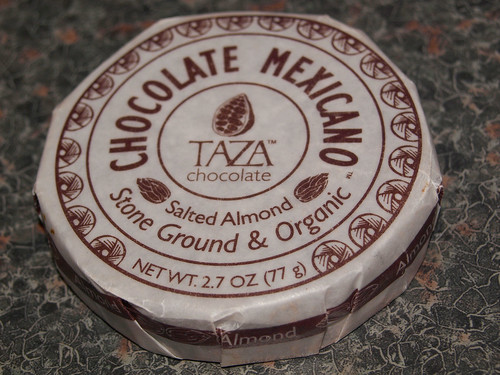 Taza Salted Almond Mexicano Chocolate Disc