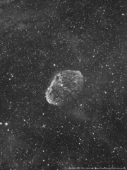 NGC 6888 The Crescent Nebula in Hydrogen Alpha (Terry Hancock www.downunderobservatory.com) Tags: monochrome canon backyard space clusters ngc bisque astro crescent observatory telescope nebula astrophotography software terry 5d astronomy galaxies 105 hancock alpha ccd universe 27 amateur constellations cosmos reflector hydrogen caldwell markii tmb astronomer teleskop astronomie byo f7 cygnus refractor nebulae deepsky 6888 sharpless autoguider astrofotografie astrophotographer Astrometrydotnet:status=solved starshoot qhy5 130ss Astrometrydotnet:version=14400 mks4000 gt1100s qhy9m Astrometrydotnet:id=alpha20110613175152