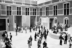 Entry hall National Museum Amsterdam (T.Krap) Tags: blackandwhite bw architecture blackwhite nikon 28mm streetphotography ais d700