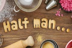 Half man... (Leo Reynolds) Tags: cookie biscuit wrting 0sec hpexif webthing photofunia xleol30x cookiewriting xxx2014xxx