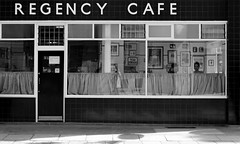 REGENCY CAFE, Regency Street (shadow_in_the_water) Tags: regencycafe curtains shopfront greasyspoon layercake brightonrock pride londonspy café caff cafe regencystreet pimlico london sw1