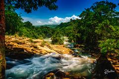 Agua Azul Falls (Riccardo Maria Mantero) Tags: clouds mantero riccardomantero riccardomariamantero blue landscape mexico natura outdoors sky travel water