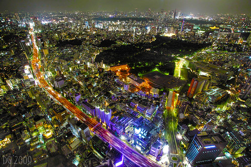 Tokyo From Roppongi at Night by The Devil in the Detail.