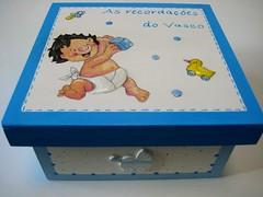 """Caixa """"bébé"""" - D55 (Ideias com Cores) Tags: blue baby azul box caixa pulseira menino bébé recordações cordãoumbilical ideiascomcores 1ºdente 1ºcabelo"""