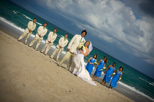 Wedding Party Portraits on the Beach Del Ray Beach Wedding Photography