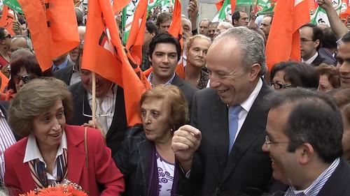 Manuela Ferreira Leite e Paulo Rangel em Lisboa por retrato da verdade.