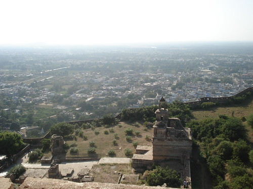 down is chittorgarh city, @chittorgarh fort, Rajasthan