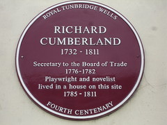 Photo of Richard Cumberland claret plaque