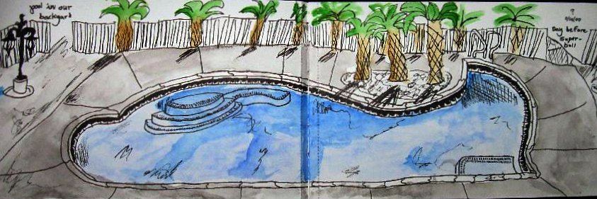 """ SWIMMING POOL"" by John Woolley / 4th grade."