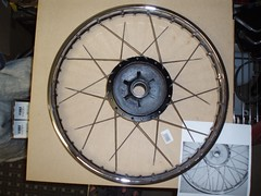 Front Rim - 1 side ready for lacing