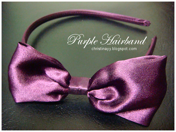 Purple Hairband with Bow