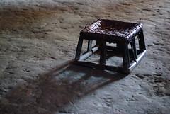 Stool on the floor (sicknote77) Tags: shadow asia southeastasia stool laos hmong phongsali ethnicvillage
