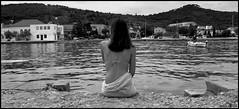 Pnelpeia (PILANA) Tags: sea people blackandwhite bw woman art penelope olympusc5060 c5060 waitingforthesun preko pilana kolji penelopa pnelpeia