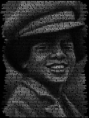 Michael Jackson, Text Portrait (Ben Heine) Tags: africa music usa art rock youth print death star dance concert peace child skin mort bad middleeast voice dancer icon pop business master talent commercial mtv soul scream singer funk innocence michaeljackson abc tribute genius multicultural prodigy legend enfant moonwalk biography injustice extravaganza myth obituary controversy bestseller jacksons molesting songwriter thriller phenomenon toile criticism offthewall blackorwhite youtube jackson5 finalcurtaincall beatit illbethere iwantyouback rockinrobin healtheworld textportrait benheine gottobethere roidelapop tragicend theloveyousave kingofthepop quincyjonesalbums vocalpresence 19582009 infotheartisterycom